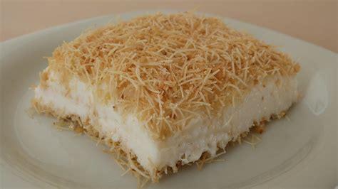 pudding and dessert recipes kanafeh with pudding recipe turkish dessert