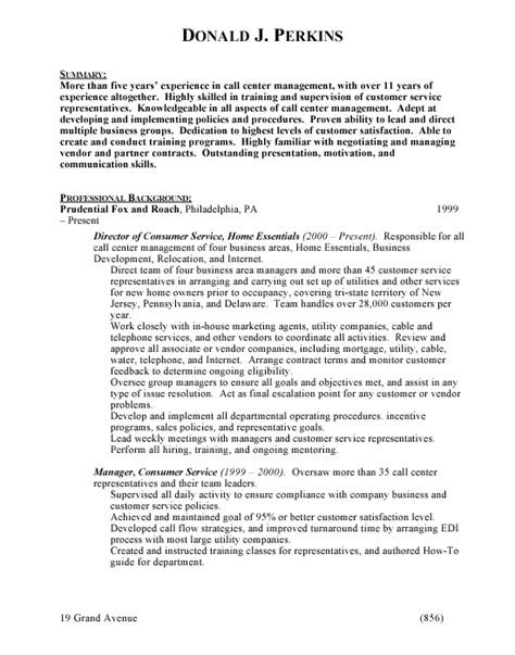 Exle Of Resume For Call Center by Basic Resume Exles Andrew Garfield