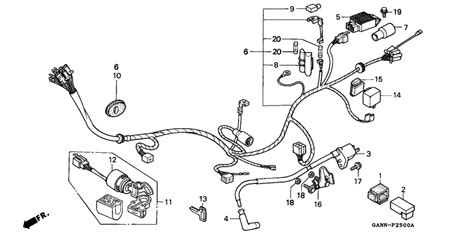 wire harness for 1992 honda st70 st70 dax spain sales region 11062827 707038