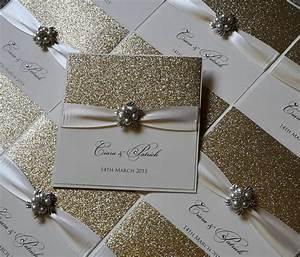glitzy pearl wedding invitation by chosen touches wedding With handmade wedding invitations yorkshire