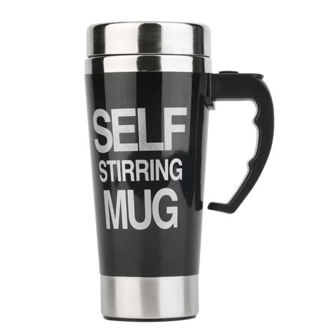 Stainless Steel Self Stirring Mug Auto Mixing Tea Coffee Cup Office Gifts XG   eBay