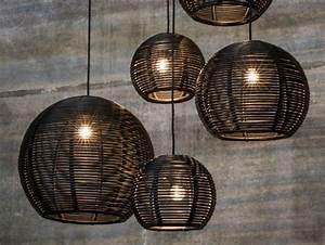 Suspension Rotin Tressé : suspension salon appliques murales et lampadaires par dark ~ Teatrodelosmanantiales.com Idées de Décoration