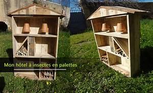 Fabriquer Un Hotel A Insecte : fabriquer un h tel a insectes en palettes astuces en ligne ~ Melissatoandfro.com Idées de Décoration