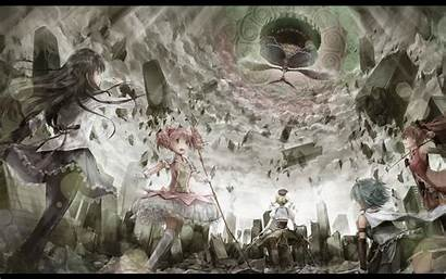 Madoka Magica Magi Mami Homura Puella Tomoe