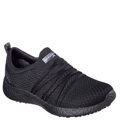skechers burst  air cooled memory foam bbk black
