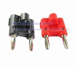Screw Type Dual Banana Plug Speaker Connector Red  U0026 Black Plastic Handle 4pairs   Free Shipping