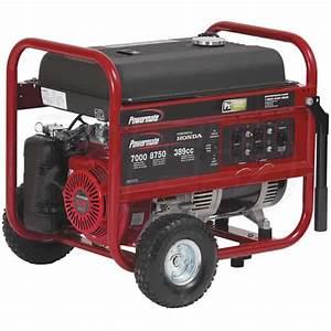 Powermate Pm0497008 7000 Watt Portable Generator W   Honda