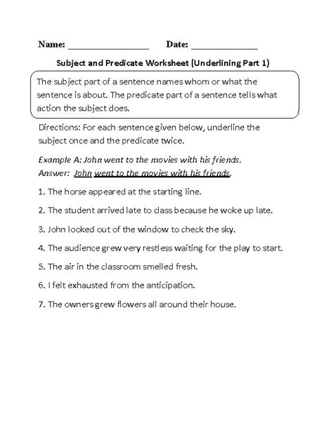 best 25 subject and predicate worksheets ideas on