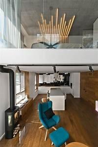 Mobilier Scandinave En Gris  Blanc Et Bois Dans Un Loft