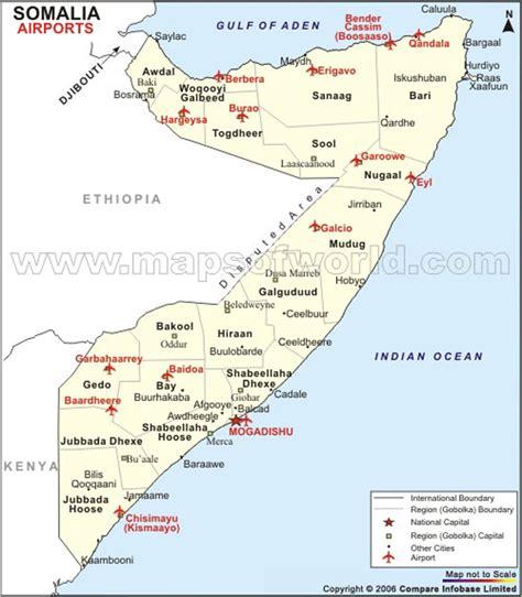 Airports in Somalia, Somalia Airports Map