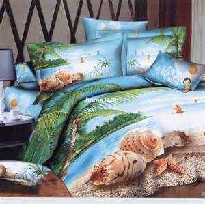 3D Beach Bedding Comforter Sets