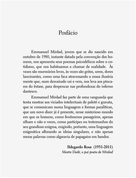 Posfácio de Ildegardo Rosa para o livro Nostalgia da Lama