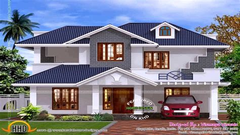 exterior house designs  kerala double floor