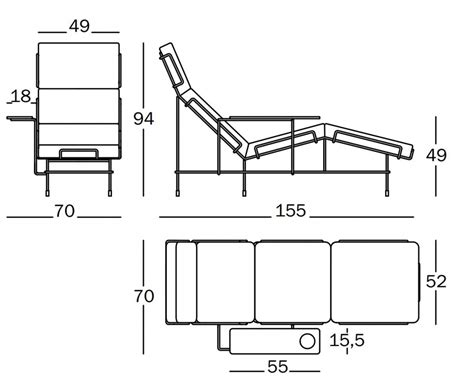 pool chair dimensions