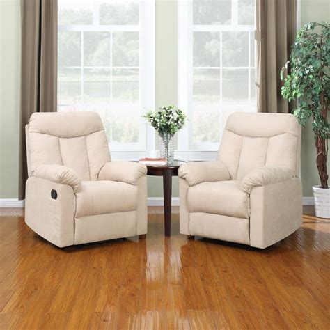 Living Room With Recliners by Prolounger Wall Hugger Khaki Microfiber Recliners Set Of