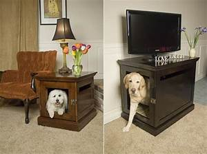 Furniture that doubles as comfy hideaways for your pets for Dog room furniture
