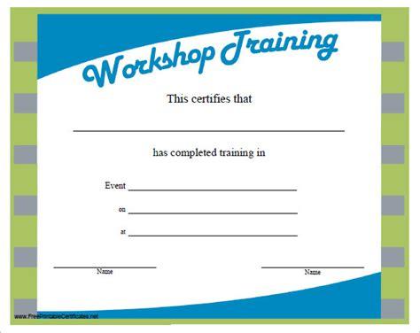 training certificate templates  samples
