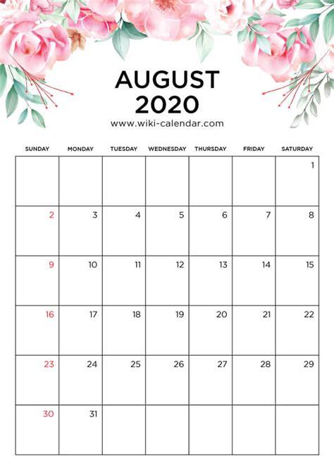printable august  calendar wiki calendarcom