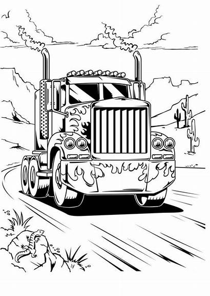 Coloring Truck Pages Optimus Prime Boys Transformers