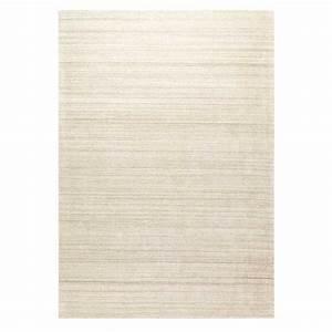 tapis sur mesure beige en viscose et laine avec rayures With tapis de marche avec canapé sur mesure en ligne