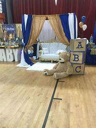 Royal Prince Baby Shower Blocks Decoration