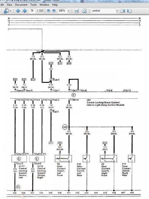 audi a4 central locking wiring diagram 43 wiring