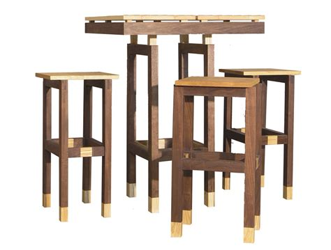 outdoor bar height table and chairs feel the home