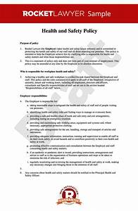 Hse Health And Safety Policy Template Free Health And Safety At Work Policy Template Online