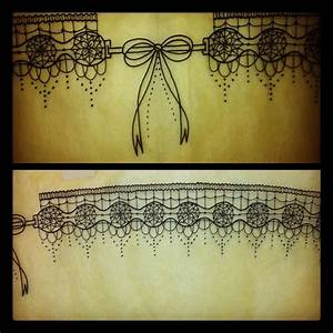 lace garter tattoo started this garter design on With garter tattoo templates