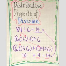 Distributive Property Of Division  Anchor Chart  Fourthgradefriendscom  Pinterest Division