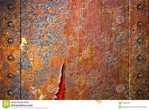 Torn Rusty Metal Texture With Rivets Stock Photos - Image ...