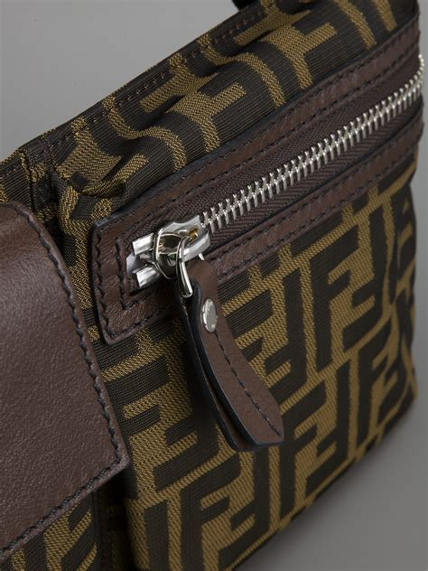 fendi monogram bum bag  brown lyst