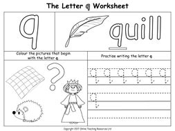 the letter q by teacher of primary teaching resources tes