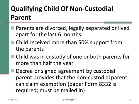 custodial parent dependents exemptions ppt video online download