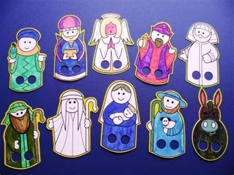 littlecraftybugs co uk nativity finger puppets for 883 | RO%2Ba3%2Bfpup%2Bnativity