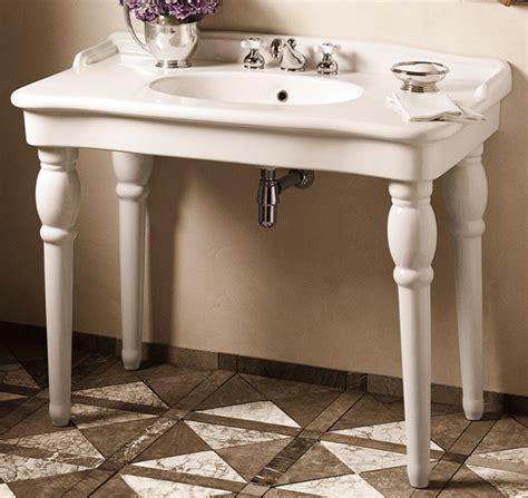 bathroom sink consoles vintage porcher sonnet sink console traditional bathroom