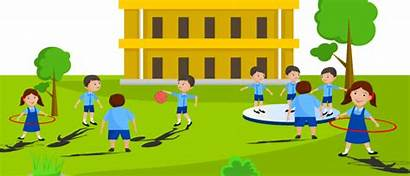 Sports Facilities Playing Children Students Play Exercise