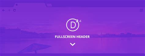 Exploring Divi 24 Using The All New Full Screen Header Module  Elegant Themes Blog