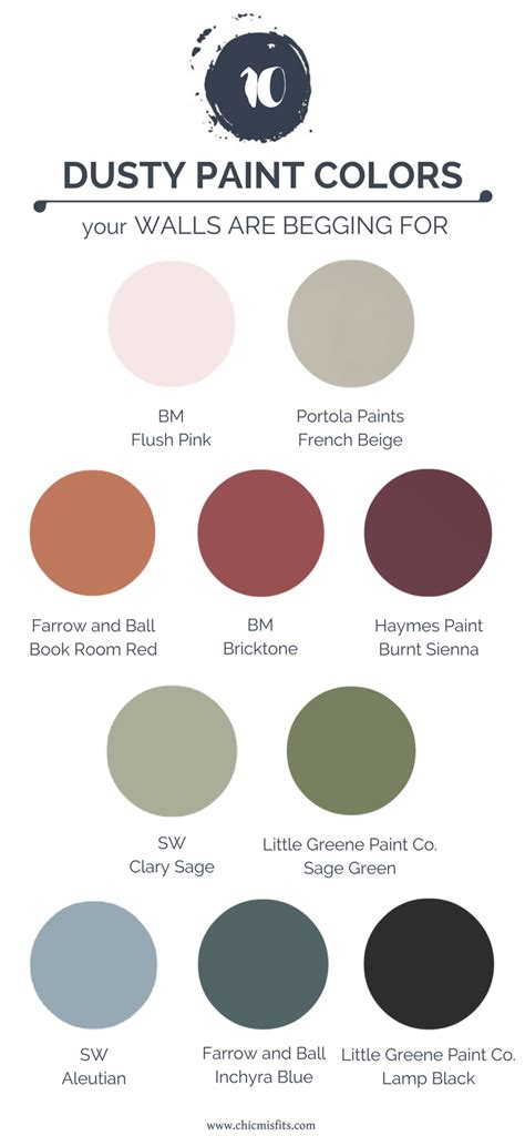 10 dusty paint colors your walls are begging for chic