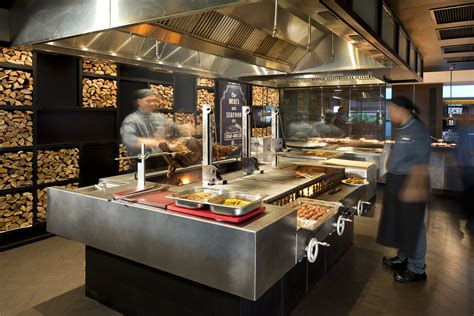 grill cuisine a customized grill with 3 separate grilling sections for seafood meats and fruits vegetables