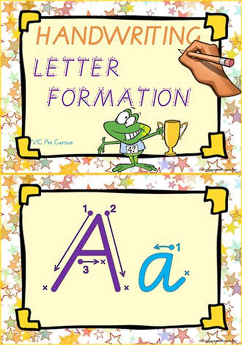 year  handwriting letter formation classroom display