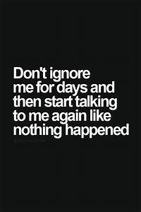 Sad Love Quotes : Don't ignore me... | Funnies | Quotes ...