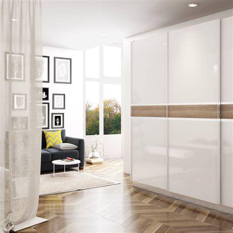 glossy white modular wardrobe  sophisticated homes
