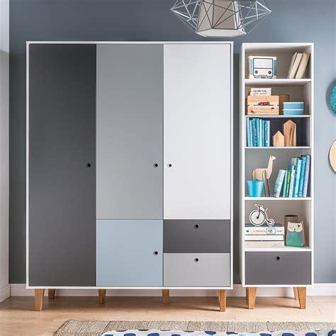 Blue Wardrobes For Sale by Vox Concept 3 Door Wardrobe In Grey Blue Vox Cuckooland