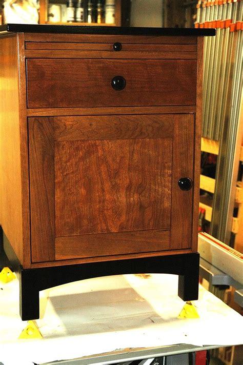 custom cherry night stand   wooden   nice