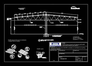Photovoltaic Shelter In Autocad