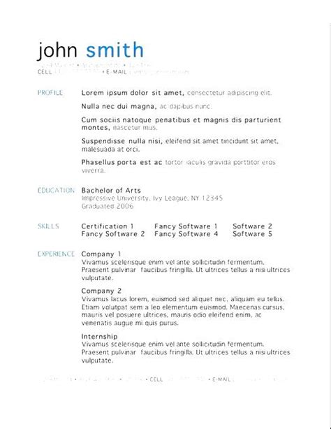 Mac Resume Templates by Free Mac Resume Templates Free Sles Exles