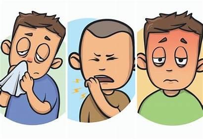 Illness Winter Sick Cartoon Bronchitis Diseases Common