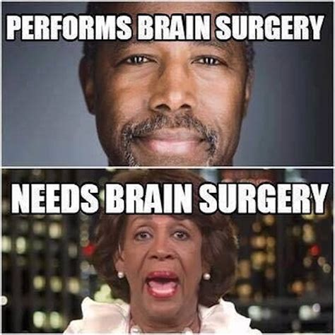Maxine Waters Memes - ben carson vs maxine waters hilariously compared