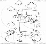 Ice Cream Coloring Outline Cart Illustration Clip Royalty Bnp Studio Rf Clipart 2021 sketch template